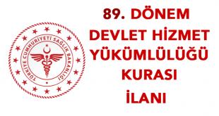 89. Dönem Devlet Hizmeti Kura sonuçları açıklandı